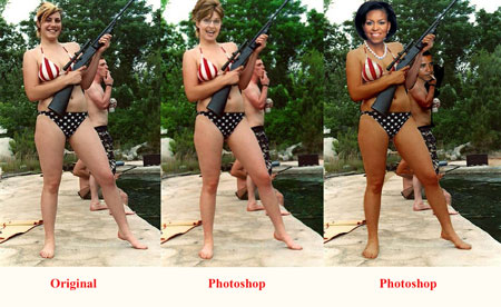 bikini photo gun Palin